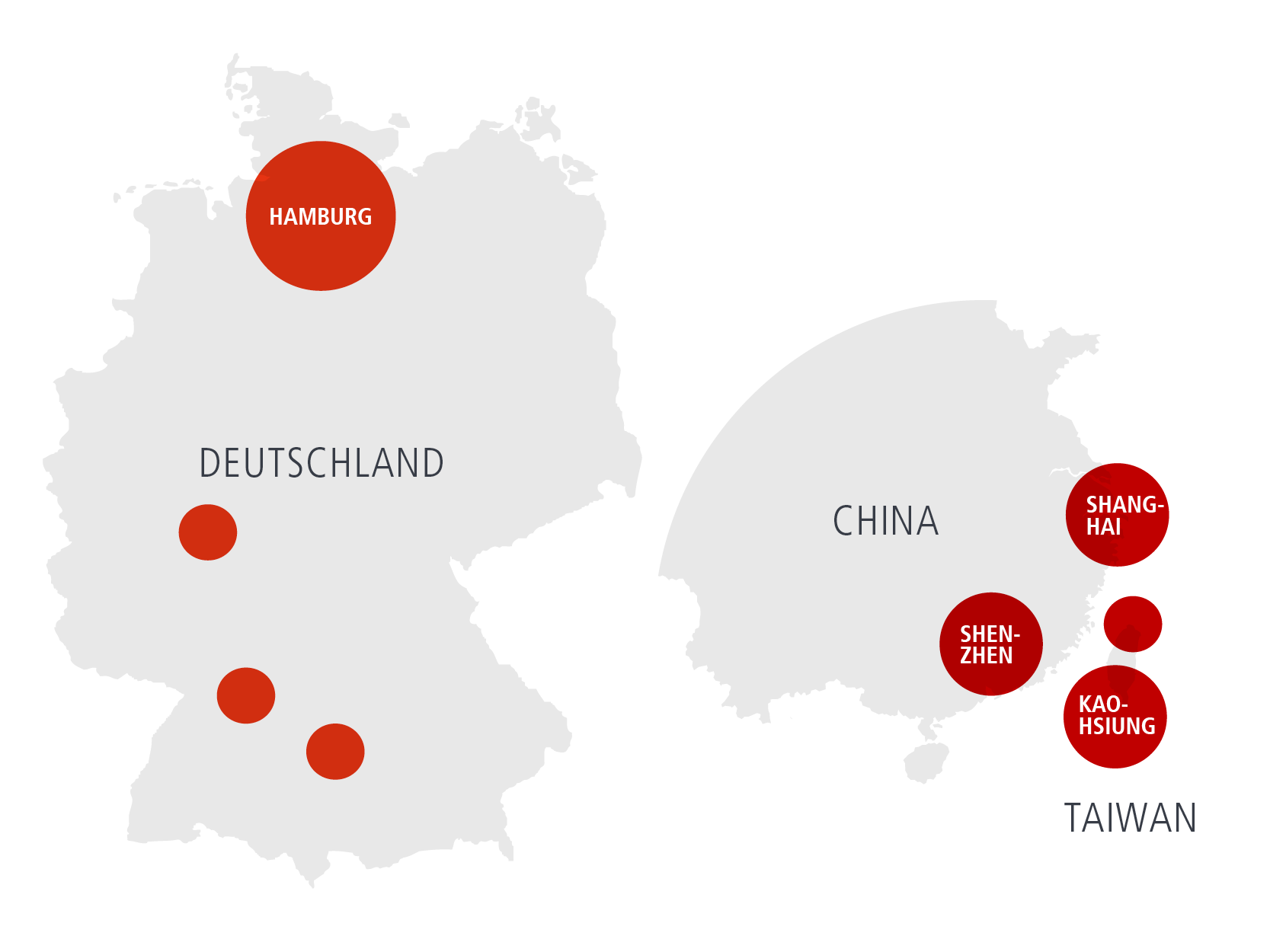 Karte Elektrosil weltweit